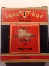 Vintage Old Ford V-8 1940 Lynx Eye 1940 FORD Tail Lamp Lens T-309 Free Shipping