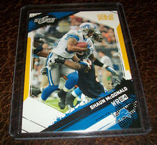 2009 SCORE INSCRIPTIONS GOLD ZONE SHAUN MCDONALD LIONS #'D 11/50