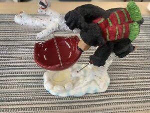 Yankee Candle CHRISTMAS Bear Black 2012 Hanging Tart Warmer Burner