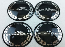 4Pcs 65mm Alloy Wheel Center Hub Cap Emblem Sticker Badge Decal For AC SCHNITZER