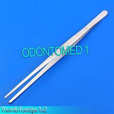 "Huge Tweezers Thumb Dressing Forceps 12"" 1x2 teeth Surgical Instruments"