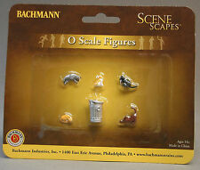 BACHMANN O GAUGE CATS W GARBAGE CAN train city street animals kitty 33157 NEW