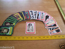 Star Wars 1977 stickers vintage trading cards singles Complete your set