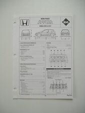 fiche technique Régla'tech revue L'EXPERT AUTOMOBILE - HONDA CIVIC 1.6i 16V