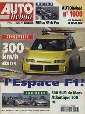 AUTO HEBDO n°986 du 8 Juin 1995 ESPACE F1 VENTURI 300 & 600LM