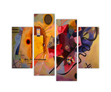 "EXTRA LARGE CANVAS PRINTS VASILY KANDINSKY YELLOW RED BLUE 35""90CM XXL PICTURES"