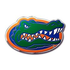 Florida Gators Die-Cut Metal Color Auto Emblem - Decal , Sticker