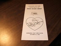 OCTOBER 1959 WABASH RAILROAD CONDENSED SYSTEM PUBLIC TIMETABLE