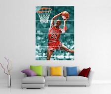 MICHAEL JORDAN CHICAGO BULLS BASKETBALL DUNK GIANT WALL ART PHOTO POSTER
