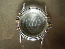 LAGOS CAVIAR Solid Sterling Silver & 18kt Gold Watch 35mm Case and Back