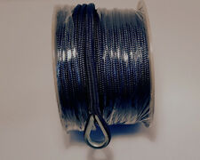 """ANCHOR LINE 3/8""""X 200FT NAVY DOUBLE BRAID NYLON ROPE DOCK MOORING MADE IN  USA"""