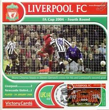 Liverpool 2003-04 Newcastle (BRUNO CHEYROU) Football Timbre Victoire Carte #314