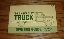 Original 1966 Chevrolet Big Truck Series 50-80 Owners Operators Manual 66 Chevy