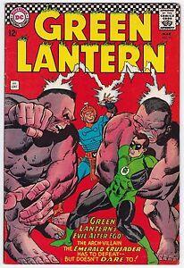 Green Lantern #51 F+ 6.5 Emerald Crusader Gil Kane Art 1967!