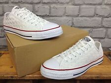 CONVERSE MENS UK 8 EU 41.5 ALL STAR WHITE WOVEN TRAINERS RRP £70