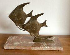 ART DECO BRONZE ANGEL FISH SCULPTURE