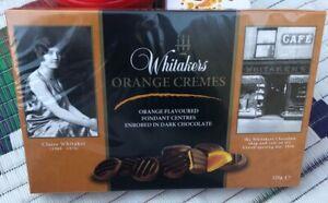 Whitakers Orange Creams Chocolate Orange Fondant Centre 125 G Gift Box NEW