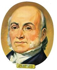 Vtg President John Quincy Adams Die Cut Face Paper Wall Decoration New Old Stock
