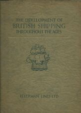 Development of BRITISH SHIPPING Throughout the Ages ELLERMAN LINES 1924 RARE