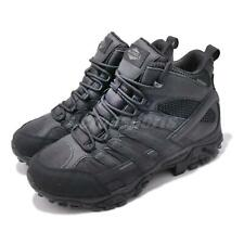 Merrell Moab 2 Mid Tactical Waterproof Black Wide Mens Hiking Army Shoes ML15853