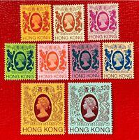 1985-87 Hong Kong Stamps SC#388a//403a Short MNH/OG Set CV:$58