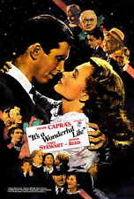 It'S A Wonderful Life Movie Promo Poster G James Stewart Donna Reed