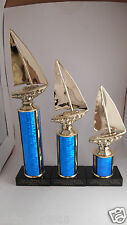 3 Raingutter Regatta/Sailing/Sailboat 1-2-3 Trophies Cub Scouts Free Engraving!