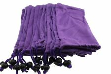 12ea Sunglass Bead Lock Microfiber Bag Soft Cleaning Case 9cm X 18cm Purple