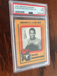 RARE 1997 BROWN'S FLOYD MAYWEATHER JR. ROOKIE #51 Boxing Card  PSA 9