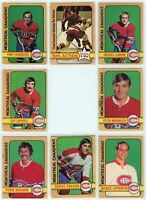 1972-73 O-Pee-Chee Montreal Canadiens 8 Card Team Set G to EX (031220)