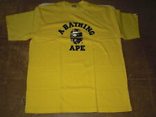 Authentic APE BAPE ONLINE EXCLUSIVE 1ST CAMO COLLEGE TEE T SHIRT YELLOW 3XL NEW