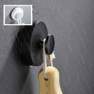 1/2PC Suction Cup Sucker Shower Towel Bathroom Kitchen Wall Window Hook Hanger