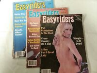 1983 Easyriders Magazine Feb Jul Sept Three Issues with David Mann Centerfold