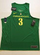 9b661f9e0e52 Nike Oregon Ducks Basketball Jersey Stitched  3 Authentic Apple Green Sz XXL