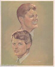 VINTAGE JFK JOHN PRINT 1968 ORIGINAL BOBBY KENNEDY POLITICAL CAMPAIGN DEMOCRATIC