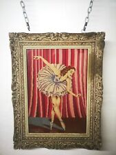 More details for vintage tapestry picture ballerina ballet dancer 1956 xmas gift 2 daughter