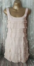 FRENCH CONNECTION Soft Peach Tiered Tunic Style Mini Dress Size UK 10