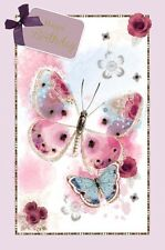 Carte D'Anniversaire - Anniversaire Papillons Femme Ouvert Carte (A51)