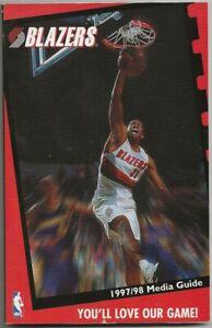 1997-98 Portland Trailblazers NBA Basketball Media Guide