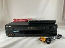 New listing Sony Slv-N55 Vcr 4-Head Vhs HiFi Video Cassette Recorder Tested + Extras!