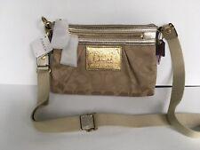 NWT Coach Poppy Signature Swingpack No 42888 Brass/Khaki/Gold