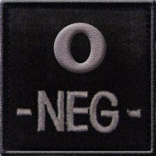 ECUSSON O- NOIR GROUPE SANGUIN O NEG NEGATIF INSIGNE