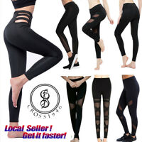 US Latest Womens Leggings Running Yoga Sports Fitness Gym Stretch Pants Trousers