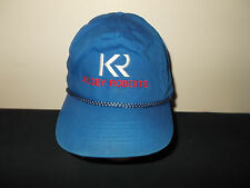 VTG-1990s Kilsby Roberts Tubing Co California rope zippback hat sku23