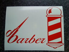 barbers pole scissors shop window signs mirrors salon stylists vinyl sticker car