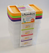 Wham Handy Storgae Stackable Box with Lids - Set of 4 - 1.5L - Assorted Colours