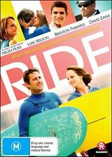 RIDE (Helen HUNT Luke WILSON Brenton THWAITES) Comedy Surfing Film DVD NEW Reg 4