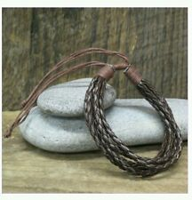 leather braoded bracelet Gorgeous designer brown