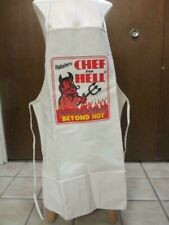 bbq barbecue barbeque kitchen cotton canvas APRON aapron Habanero CHEF from HELL