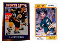 (2) Ray Bourque Odd-Ball Hockey Card Lot Boston Bruins